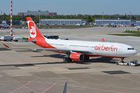 D-ALPG @ EDDL - Air Berlin A332 under tow. - by FerryPNL