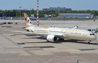 A6-BLF @ EDDL - Etihad B789 pushed back for its return flight to Abu Dhabi. - by FerryPNL