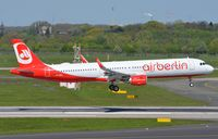 D-ABCL @ EDDL - Air Berlin A321 floating in. - by FerryPNL