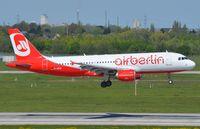 D-ABZE @ EDDL - Air Berling A320 landing. Ex EI-DSO. - by FerryPNL