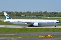 B-KPF @ EDDL - Cathay B773 starting its take-off run. - by FerryPNL