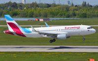 D-AEWC @ EDDL - Eurowings A320 landing - by FerryPNL