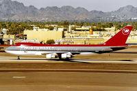 N601US @ KPHX - Boeing 747-151 [19778] (Northwest Orient) Phoenix-Sky Harbor Int'l~N 18/10/1998