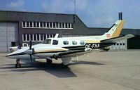 OE-FHA @ LOWW - Beech B60 Duke [P-502] Vienna-Schwechat~OE 14/05/1999. From a slide.