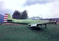OO-FDF @ EBZW - Piaggio FWP.149D [087] Genk-Zwartberg~OO 20/05/1982. From a slide.