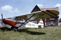 OO-FIR @ EBAL - Piper L-19C-95 Super Cub [18-1371] Aalst~OO 15/06/1980. From a slide.
