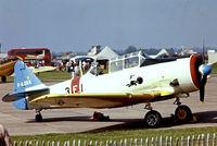 F-AZAS @ EG18 - North American T-6G Texan [182-736] Bassingbourn~G 28/05/1978. From a slide.