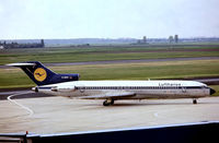 D-ABKD @ EDDL - Boeing 727-230 [20902] (Lufthansa) Dusseldorf~D 24/04/1980. From a slide. - by Ray Barber
