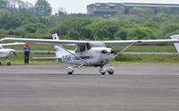 D-EVAM @ EGFH - Visiting Cessna Skyhawk. - by Roger Winser