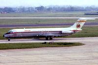 EC-BPH @ EGLL - McDonnell Douglas DC-9-32 [47368] (Iberia) Heathrow~G @1978. From a slide.
