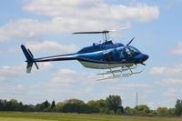 G-BSBW @ EGCB - Bell 206B JetRanger 111 on Pleasure Flight. - by David Burrell