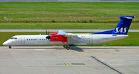 LN-RDG @ EGBB - De Havilland Canada DHC-8Q-402 [4022] (SAS Scandinavian Airlines) Birmingham Int'l~G 28/07/2007 - by Ray Barber
