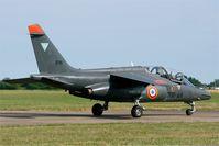 E110 @ LFOT - Dassault-Dornier Alpha Jet E, Taxiing to parking area, Tours - St Symphorien Air Base 705 (LFOT-TUF) Open day 2015 - by Yves-Q