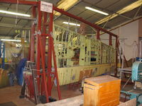 AR501 - Spitfire wing in jig at Shuttleworth - by P Byers