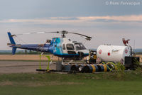 C-GAVO @ CYXJ - Parked at Bailey Helicopter hangar. - by Remi Farvacque