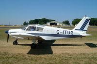 G-ITUG @ EGBP - Piper PA-28-180 Cherokee C [28-4121] Kemble~G 13/07/2003 - by Ray Barber
