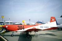 HB-HAO @ LFPB - Pilatus PC-7 Turbo Trainer at Le Bourget in 1983 - by Van Propeller