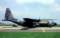 XV292 - Lockheed  C-130K Hercules C.1 [4257] (Royal Air Force) (Place & Date Unknown)~G @ 1992. From a slide.