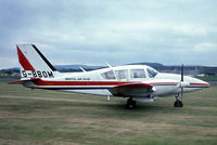 G-BBOM - Piper PA-23-250 Aztec E [27-7305208] (Bristol Air Taxis) Weston Super Mare~G  30/05/1976. From a slide.