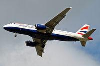 G-EUYG @ EGLL - Airbus A320-232 [4238] (British Airways) Home~G 18/09/2013. On approach 27R.