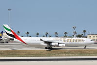 A6-ERP @ LMML - A340 A6-ERP Emirates Airlines - by Raymond Zammit