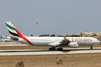 A6-ERO @ LMML - A340 A6-ERO Emirates Airlines - by Raymond Zammit