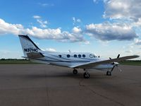 N37HC @ KDVN - On the ramp for the night - by Floyd Taber