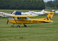 G-BNKI @ EGLM - Cessna 152 at White Waltham. Ex N67337 - by moxy