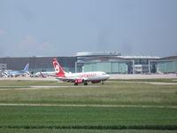 D-AHXJ @ EDDS - Air Berlin Boeing 737-7Q8 - by Christian Maurer