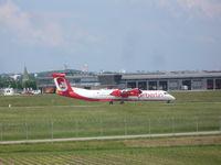 D-ABQK @ EDDS - Air Berlin DHC 8 - by Christian Maurer