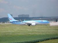 D-ATUM @ EDDS - Tui Boeing 737-8K5 - by Christian Maurer