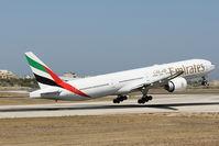 A6-EGL @ LMML - B777 A6-EGL Emirates Airlines - by Raymond Zammit
