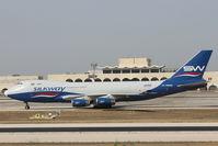 4K-SW888 @ LMML - B747 4K-SW888 Silkway Azerbaijan Cargo - by Raymond Zammit
