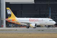 5H-FJC @ LMML - A319 5H-FJC Fastjet.com - by Raymond Zammit