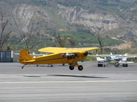 N88505 @ SZP - Piper J3C-65 CUB, Continental C65 65 Hp, landing Rwy 22 - by Doug Robertson