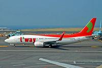HL8021 @ RKPC - Boeing 737-8GJ [34899] (T'wayAir) Jeju Int'l~HL 22/10/2015 - by Ray Barber