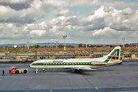 I-DABG @ EGKK - Sud Aviation SE.210 Caravelle 6N [205] (Alitalia) Gatwick~G 11/09/1972. From a slide.