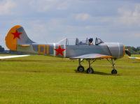 G-YKSZ @ EGLM - Yakolev YAK-52 at White Waltham. - by moxy