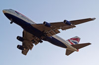 G-BYGD @ EGLL - Boeing 747-436 [28857] (British Airways) Home~G 08/06/2014. On approach 27R.