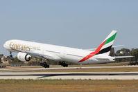 A6-EPK @ LMML - B777 A6-EPK Emirates Airlines - by Raymond Zammit