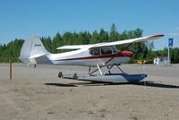 N1436H @ UUO - on floats at Willow airport AK - by Jack Poelstra