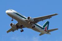 EI-DTL @ EGLL - Airbus A320-216 [4108] (Alitalia) Home~G 16/05/2015. On approach 27R.