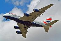 G-XLEI @ EGLL - Airbus A380-841 [173] (British Airways) Home~G 21/07/2015. On approach 27R.