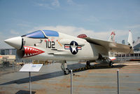 145550 - This Crusader is painted to represent Lt. Toni Nargi's aircraft from USS Intrepid that was credited with a missile kill of a North Vietnamese MiG-21 on Sept. 19, 1968. VF-111 'Sundowners' was deployed aboard USS Intrepid during Operation Rolling Thunder. - by Arjun Sarup