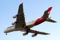 VH-OQH @ EGLL - Airbus A380-841 [050] (QANTAS) Home~G 05/07/2013. On approach 27R.