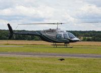 G-LBDC @ EGTF - Bell 206B JetRanger III at Fairoaks. Ex N206GF - by moxy