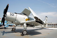 09102 - On display aboard USS Intrepid. The Skyraider is from VA-15 'Valions'. - by Arjun Sarup