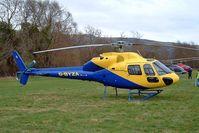 G-BYZA @ EGBC - Aerospatiale AS.355F2 Ecureuil II [5518] (MM Air) Cheltenham Racecourse~G 18/03/2004