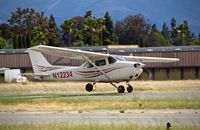 N12234 @ KRHV - Locally-based 1973 Cessna 172M departing on runway 31R at Reid Hillview Airport, San Jose, CA. - by Chris Leipelt