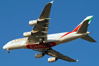 A6-EDI @ EGLL - A6-EDI   Airbus A380-861 [028] (Emirates Airlines) Home~G 19/02/2013. On approach 27R.